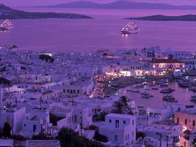 Mykonos Town at Night, Mykonos, Greece