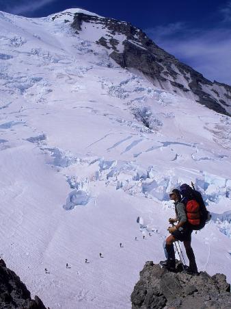 Emmons Glacier on Mt. Rainier, Washington