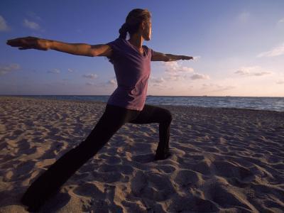 Woman Doing Yoga, Miami, FL