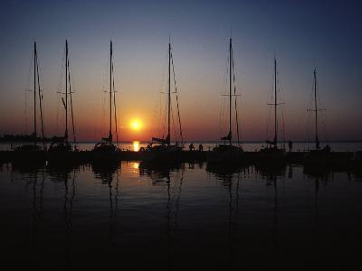 Boat Masts and Sunset, WI