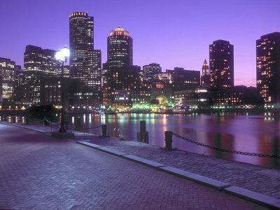Nighttime Boston, Massachusetts