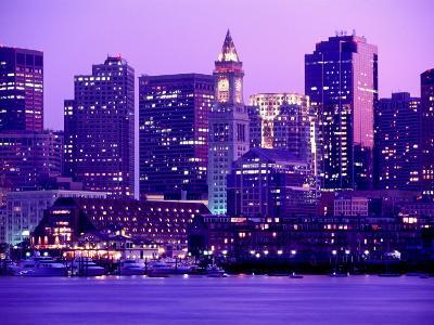 Nighttime Downtown Boston, MA