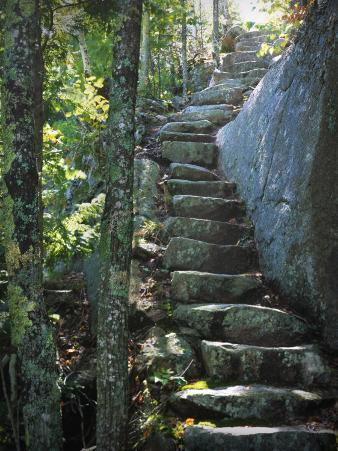 Stone Stairs, Dorr Mountain Trail, Acadia National Park