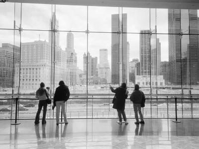 Looking at Ground Zero, Lower Manhattan, NYC
