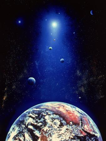 Space Illustration of the Earth and Planets