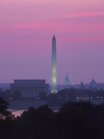 Lincoln & Washington Memorials, Dawn, DC