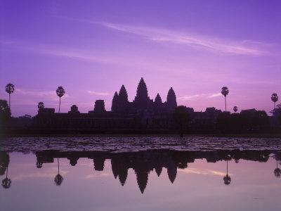 Dusk at Pond, Cambodia