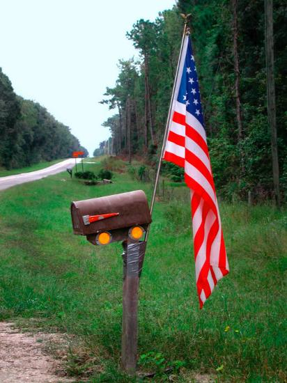American Flag On Rural Mailbox North Florida Photographic