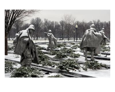 Korean War Memorial Winter Snow