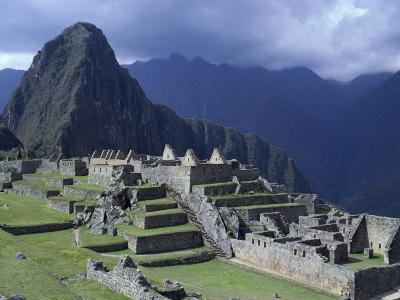 The Inca Ruins of Machu Picchu High in the Andes Mountains