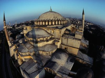 Side Domes and Added Minarets Gather About the Great Vault of Hagia Sophia