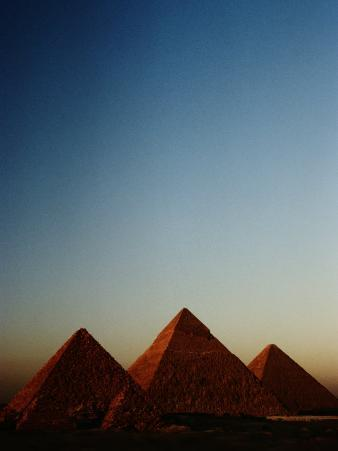 Distant View of the Pyramids of Giza
