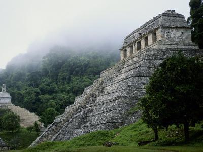 Misty View of the Temple of Inscriptions