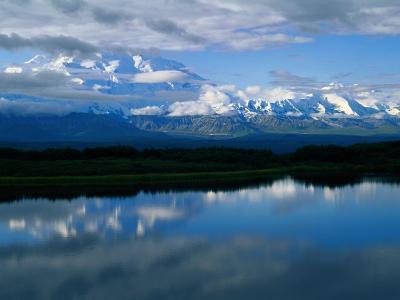 Cloud-Enshrouded Mt. Mckinley Reflected in Wonder Lake