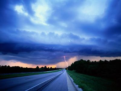 Lightning over the Bee Line Expressway, East of Orlando