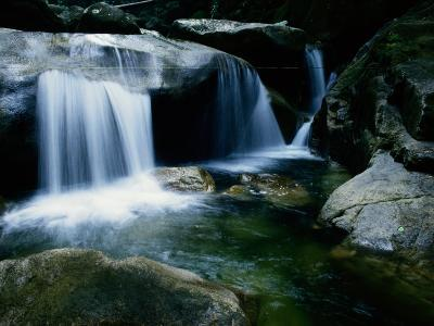 A Small Waterfall Located in the Borneo Rainforest