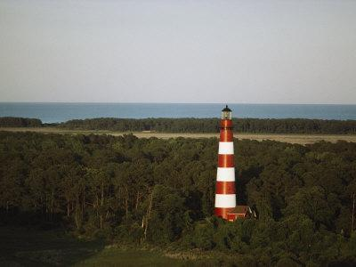 An Elevated View of the Assateague Island Lighthouse