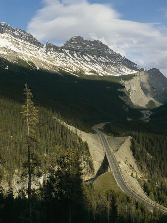 Mountain Peaks Along the Icefields Parkway
