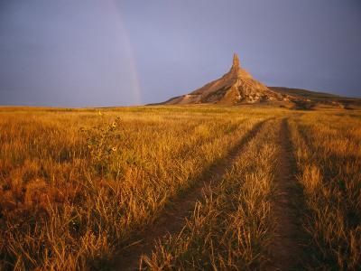Scenic View of Western Nebraska Landscape Along the Oregon Trail