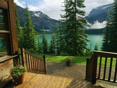 A View of Emerald Lake Seen from the Emerald Lake Lodge Entrance
