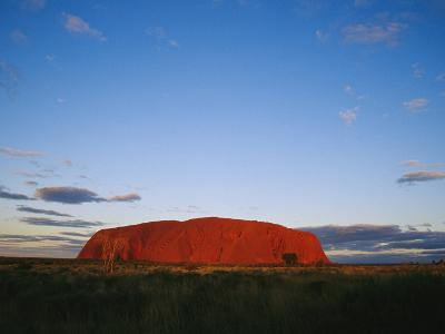 View of Ayers Rock Under a Twilight Sky