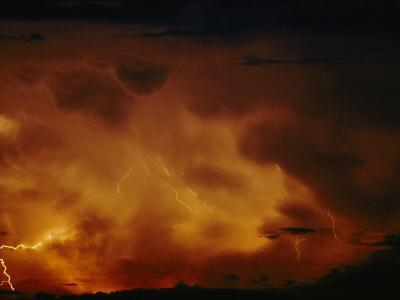 Lightning Bolts Crack Across a Menacing Sky Above Lake Tanganyika