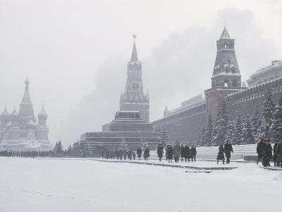 View of Red Square in the Snow