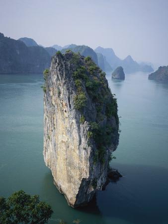 Karst Limestone Tower in Halong Bay, Vietnam