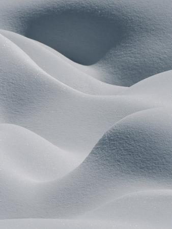 Snow Pillows Form an Abstract Scene