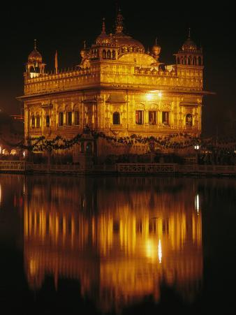 The Golden Temple is Reflected in a Pool of Holy Water