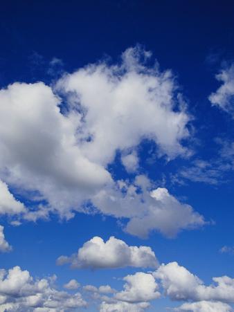 White, Fluffy Clouds Near Carnarvon National Park in Queensland