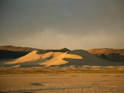 Twilight View of Large Sand Dune in Austin, Nevada