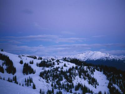 Whistler Ski Mountain Restaurant Just Before Sunrise