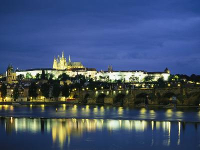 An Evening View of the Charles Bridge and Prague Castle
