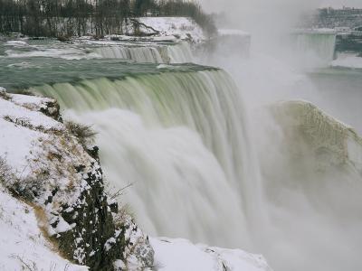 Winter View of Cascading Niagara Falls