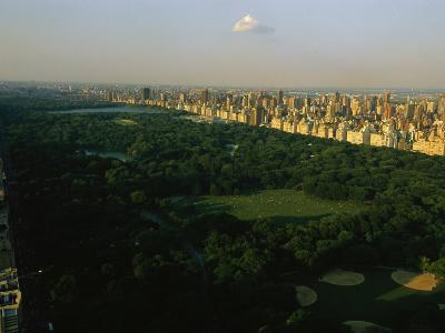 Aerial View of Central Park, an Oasis in Crowded Manhattan