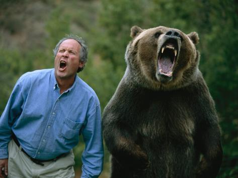 Bear and man