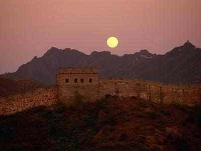 Moonrise over the Great Wall