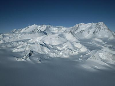 An Aerial View of Mount Vinson, Antarcticas Highest Peak