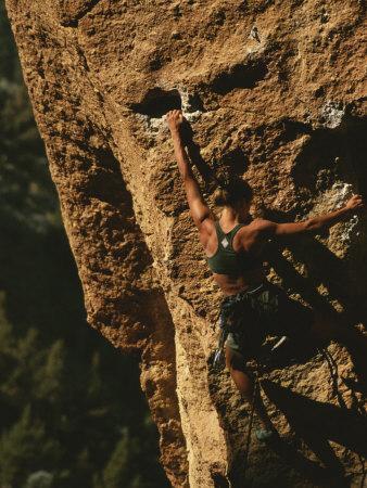 Climber on Smith Rocks, Oregon