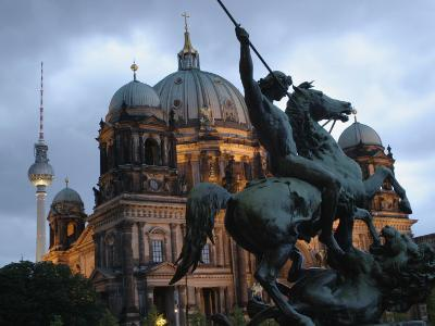 A Twilight View of the Berlin Cathedral, Berlin Landmarks at Night