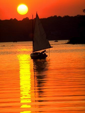 Catboat on the Chesapeake Bay at Sunset