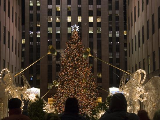 Rockefeller Center And The Famous Christmas Tree,Rink And