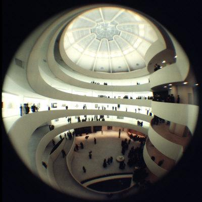 Interior Views of the Frank Lloyd Wright Designed, Solomon R. Guggenheim Museum