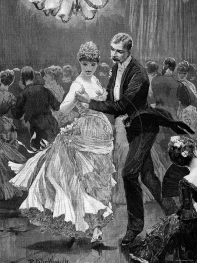 victorian interior decorating.htm illustration of a victorian era couple dancing at a ball  victorian era couple dancing