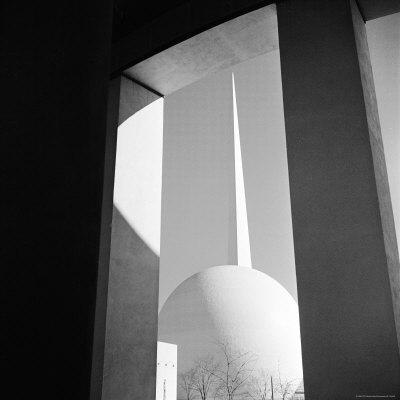 View of the Perisphere and Trylon, Icons of the 1939 New York World's Fair