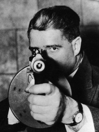 G Man Armed with a Machine Gun