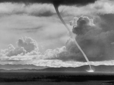 Funnel Cloud of a Tornado High in the Andes Mountains