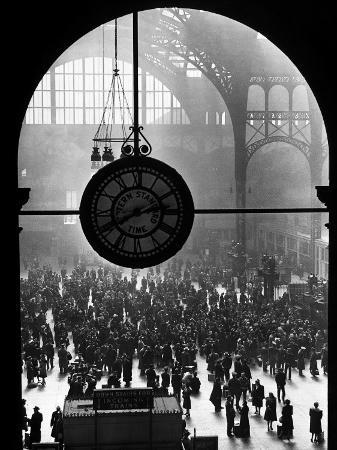 Clock in Pennsylvania Station