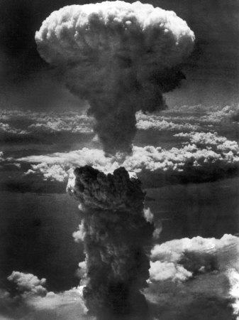 Atomic Bomb Smoke Capped by Mushroom Cloud Rises More Than 60,000 Feet Into Air over Nagasaki